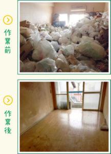 ゴミ整理の前と後